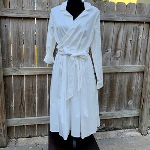 NWT Gal meets glam off white wrap dress size 12